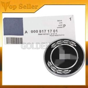 For Mercedes Benz A0008171701 Front Hood Emblem Flat Laurel Wreath Badge 57mm
