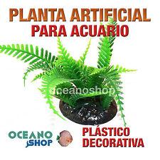 PLANTA ARTIFICIAL VERDE 13CMx6CM DIÁMETRO DECORACIÓN ACUARIO PECERA PLÁSTICO D94