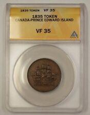 1835 Canada Prince Edward Island Token ANACS VF-35
