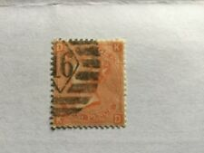 1860 GB Great Britain UK QV 4p Vermilion Plate 13 Old Stamp. CV Rm 250++