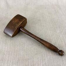 Vintage Masonic Gavel FREEMASON  Ceremonial Wooden Wood Mallet Hammer
