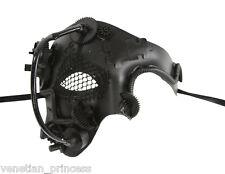 New Steampunk Style Black Phantom of The Opera Mens Half Masquerade Mask SPM005