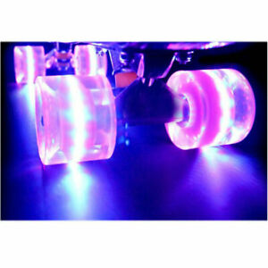 Light Up Skateboard Replacement Wheels with ABEC-9 Bearings - 3 Color LED's 60mm