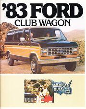 1983 Ford Club Wagon Van 14-page Original Car Sales Brochure