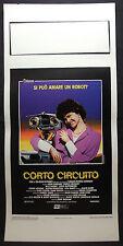 LOCANDINA CINEMA - CORTO CIRCUITO - A. SHEEDY - 1986 - FANTASCIENZA