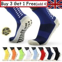 Men's Anti Slip Football Socks Athletic Long Socks Absorbent Sports Grip UK U7H9