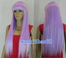 Charming Lolita Lavanda lunghe parrucche di capelli lisci parrucca + REGALO