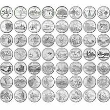 1999-2009 50 STATES & TERRITORIES QUARTERS Set of 56 coins P or D Mixed