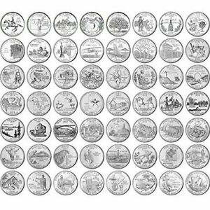 1999-2009 50 STATES & TERRITORIES QUARTERS Set of 56  P or D Mixed uncirculated