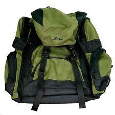 LL Bean Continental Rucksack Hiking Nylon Backpack Green Black Sleeping Bag