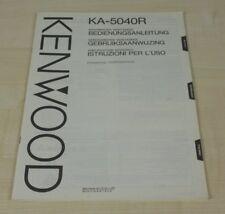 Kenwood KA-5040R Bedienungsanleitung (mehrsprachig, auch in Deutsch)