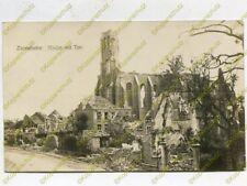 Foto, 1.Weltkrieg, Blick auf zerstörte Kirche in Zonnebeke, Begien (W)19816
