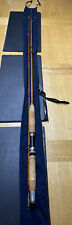 "Vintage Allcocks Nimrod Split Cane Fishing Rod 8ft 6"" With cloth Rod Bag"