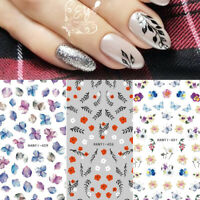 3D Nail Stickers Flower Transfer Decals Decoration Tips Nail Art Accessories