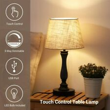 DEWENWILS 3-Way Dimmable Table Lamp Touch Control Bedside...
