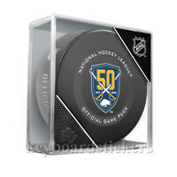 2019-20 Buffalo Sabres 50th Anniversary Official NHL Hockey Game Puck w/Cube