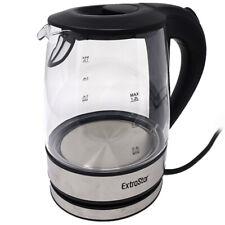 Bollitore elettrico 1.2L 1630W acciaio+vetro per camere airbnb colazione HHB1230
