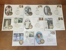JOBLOT COLLECTION OF COMMEMORATIVE QUEEN MOTHER COIN FIRST DAY COVERS