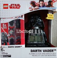 Authentic LEGO STAR WARS DARTH VADER ALARM CLOCK AND WATCH SET CHRISTMAS GIFT