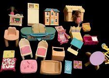 Vintage Little Tikes FP Playskool Mixed Dollhouse Furniture Lot 24 Pc L-8
