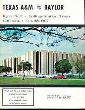 10/28 1967 Texas A&M vs Baylor football program bx21