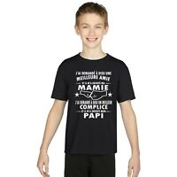 T-shirt ENFANT GARÇON MAMIE PAPI GRAND PERE GRAND MERE