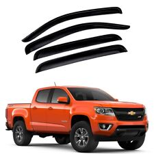 For 2015-2020 Chevy Colorado 4pcs Acrylic Window Sun Rain Visors Guard Crew Cab