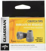 "Medline Guardian Latex Free Crutch Tips, 7/8"", Grey, 1 Pair Each"