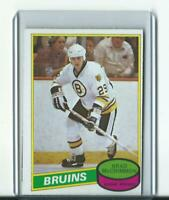vintage BRAD McCRIMMON boston bruins O-PEE-CHEE RC rookie card