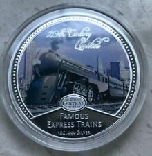 2010 Niue 2 Dollars Silver Proof - New York Central System Famous Express Trains