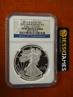 2011 W PROOF SILVER EAGLE NGC PF69 ULTRA CAMEO FROM 25TH ANN SET EARLY RELEASES