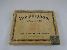 Cardboard Flat 50 Cigarette Box Buckingham Philip Morris Tax Stamp