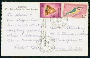 Mayfairstamps FRENCH SOMALILAND COMMERCIAL 1965 POSTCARD DJIBOUTI TO PHILA PA US