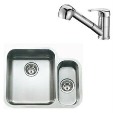Stainless Steel Undermount 1.5 Bowl Kitchen Sink & Pullout Mixer Tap ST087 L