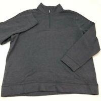 Croft & Barrow Jacket Mens 2XL XXL Dark Gray 1/3 Zip Mock Neck Insulate Pullover