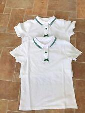 2 X School Tshirts 9-10 Yrs With  Green Edging