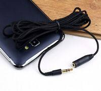 """10ft 3.5mm 1/8""""Stereo Audio Aux Headphone Cable Extension Cord Male to Female BO"""