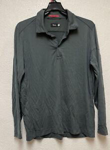 Rapha Long Sleeve Snap buttons Polo Grey Sz XXL