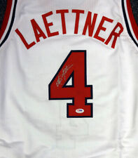 TEAM USA CHRISTIAN LAETTNER AUTOGRAPHED SIGNED WHITE JERSEY PSA/DNA 92737
