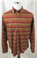 Woolrich Men's Size Medium Rust Colored Long Sleeve Button Down Shirt