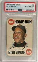 1968 Topps Game #8 Willie Mays PSA Authentic