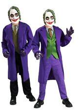 Child THE JOKER Classic + Deluxe Batman  Boys Fancy Dress Costume Kids Age 3-10