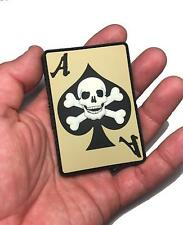 The Death Dealer Card, Glow in The Dark PVC 3D Morale Patch Ace of Spades Skull