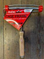 """ProDec 9"""" 225mm 1.5"""" 1 1/2"""" Premium Pro Paint Roller Cage Wood Handle Screw Fit"""
