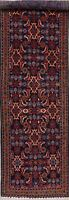 Excellent Navy Blue 14 ft LONG Runner Sultanabad Oriental Wool Rug Handmade 4x14