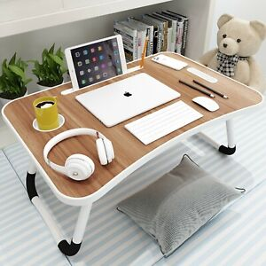 Laptop Desk, Nichos Portable Laptop Bed Tray Table Notebook Stand Reading Holder