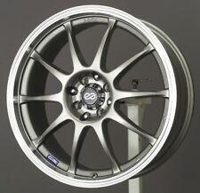 17x7 Enkei J10 4X100/114.3 +42 Silver Wheels (Set of 4)