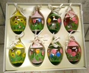 8 Princess House Crystal Centerpiece Ornaments Crystal Easter Eggs #5208 IOP
