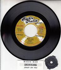 "HEART Magic Man & Crazy On You 7"" 45 rpm vinyl record NEW + juke box title strip"