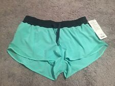 Lululemon Hotty Hot SHORT MTHL/INKW SZ 10 NWT - MENTHOL GREEN INKWELL BLUE